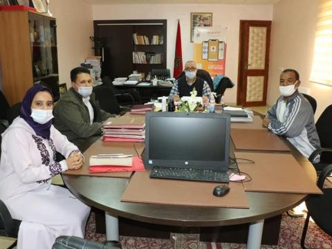 رئيس الجماعة يستقبل أعضاء مكتب جمعية حي إكرامن بتيزنيت