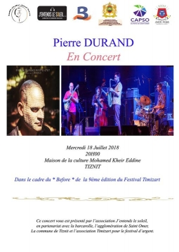 Pierre Durand في حفل فني بتيزنيت